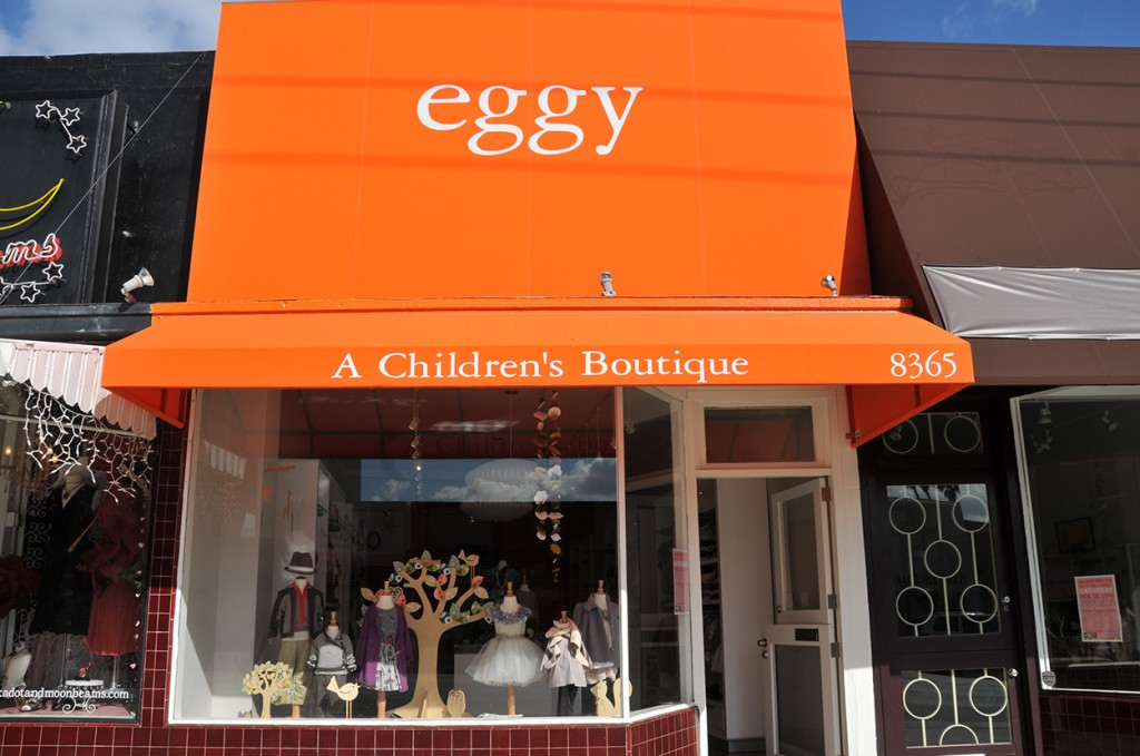 The eggy storefront on W 3rd St