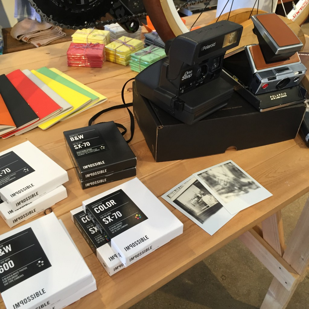 Vintage Polaroid cameras restored to original condition and film made in the same Polaroid factory