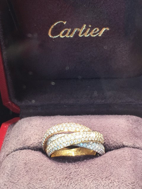 Cartier diamond rolling ring