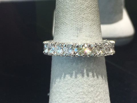 Custom platinum diamond eternity band