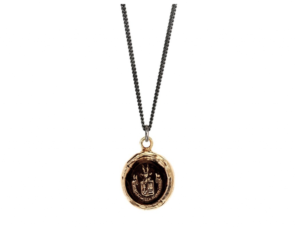Pyrrha Be Here Now talisman necklace, $162