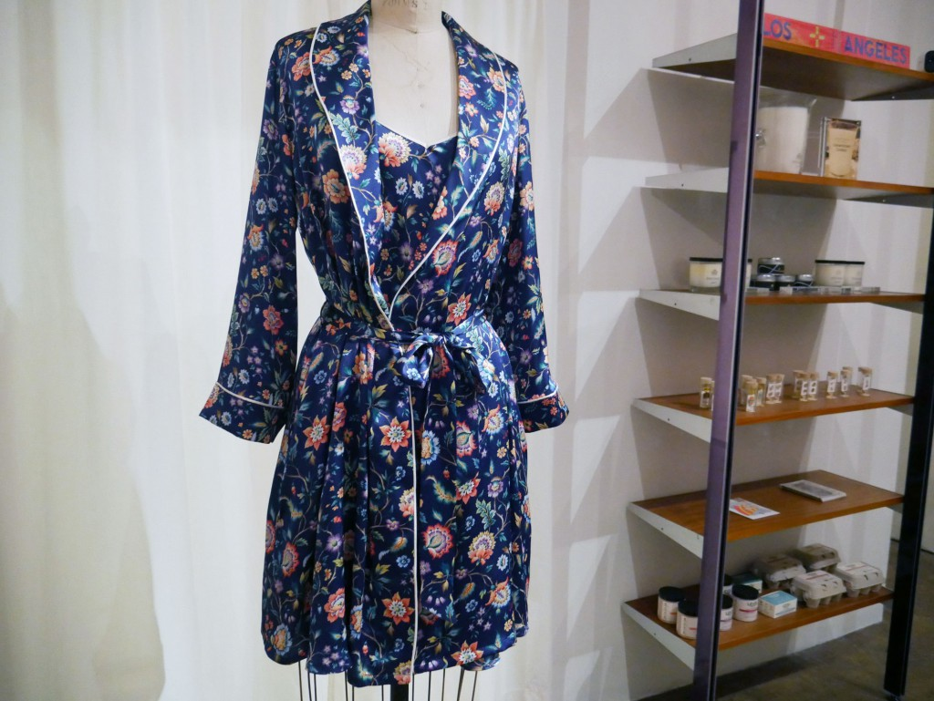 BedHead Pajamas x Liberty of London Eva Belle silk chemise and shawl collar robe, $198 to $298