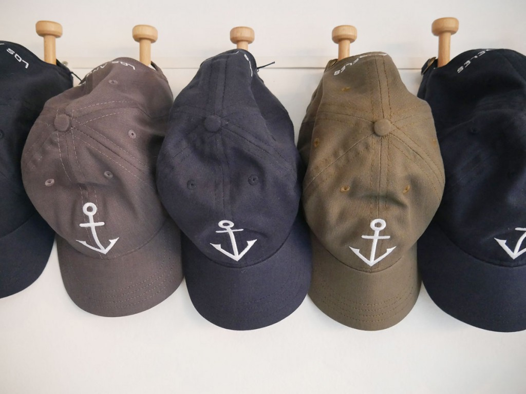 Carlton Drew anchor logo caps, $40