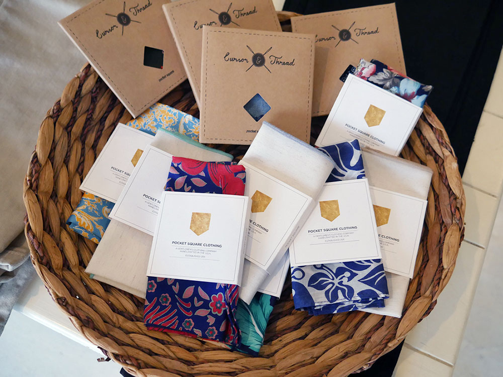Pocket Square Clothing and Cursor Thread accessories,$26 and up