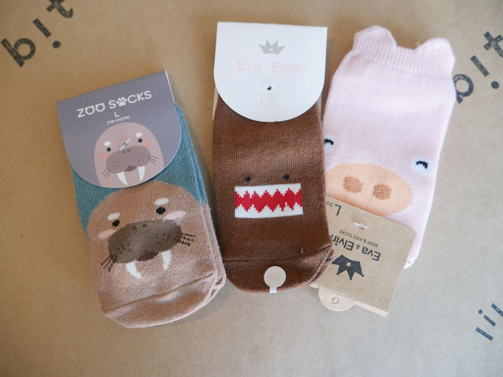 Animal socks, $4 to $4.50 at Lil Bit